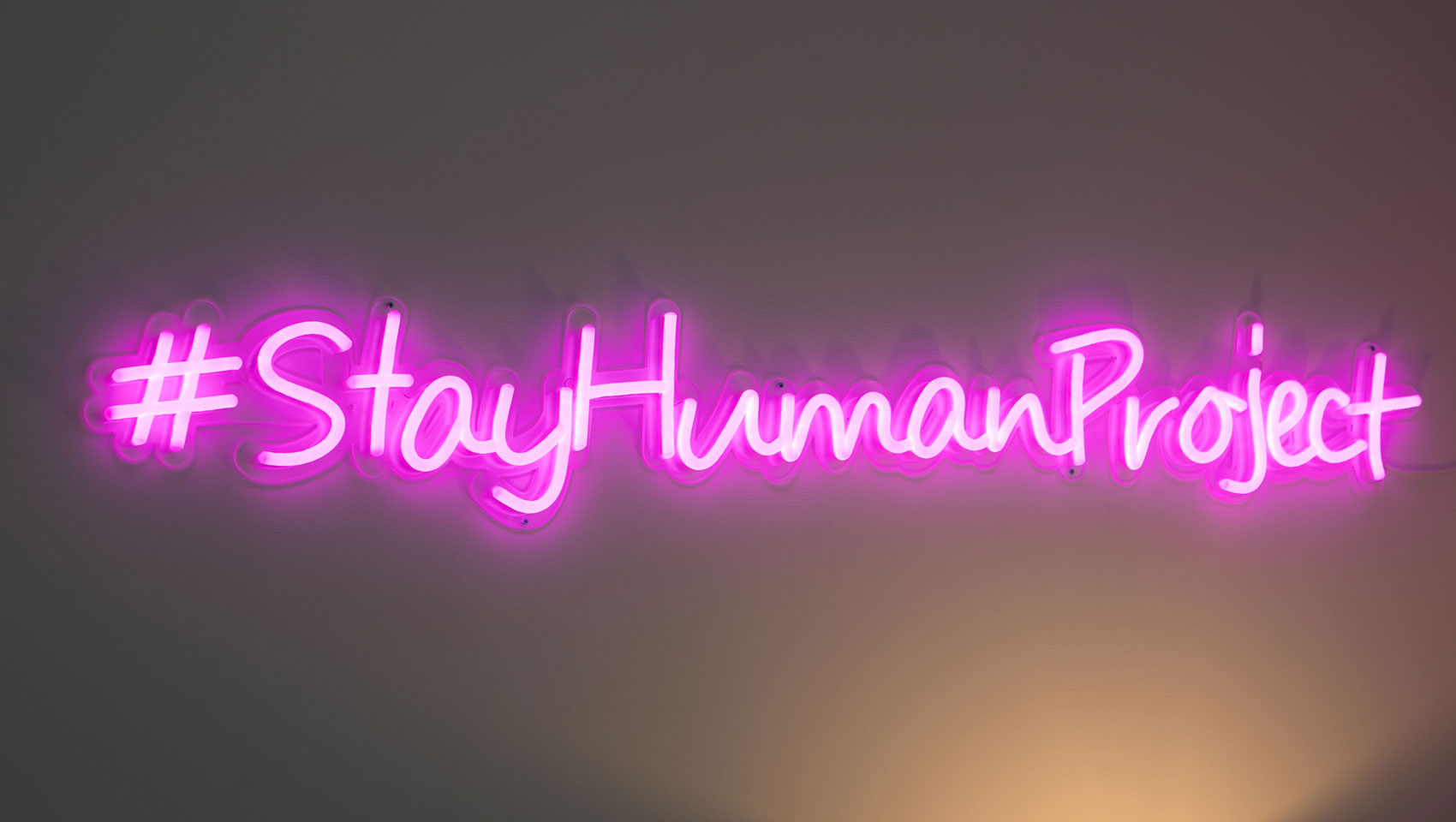 Kimpton Stay human neon sign in our one bedroom oceanview suite.