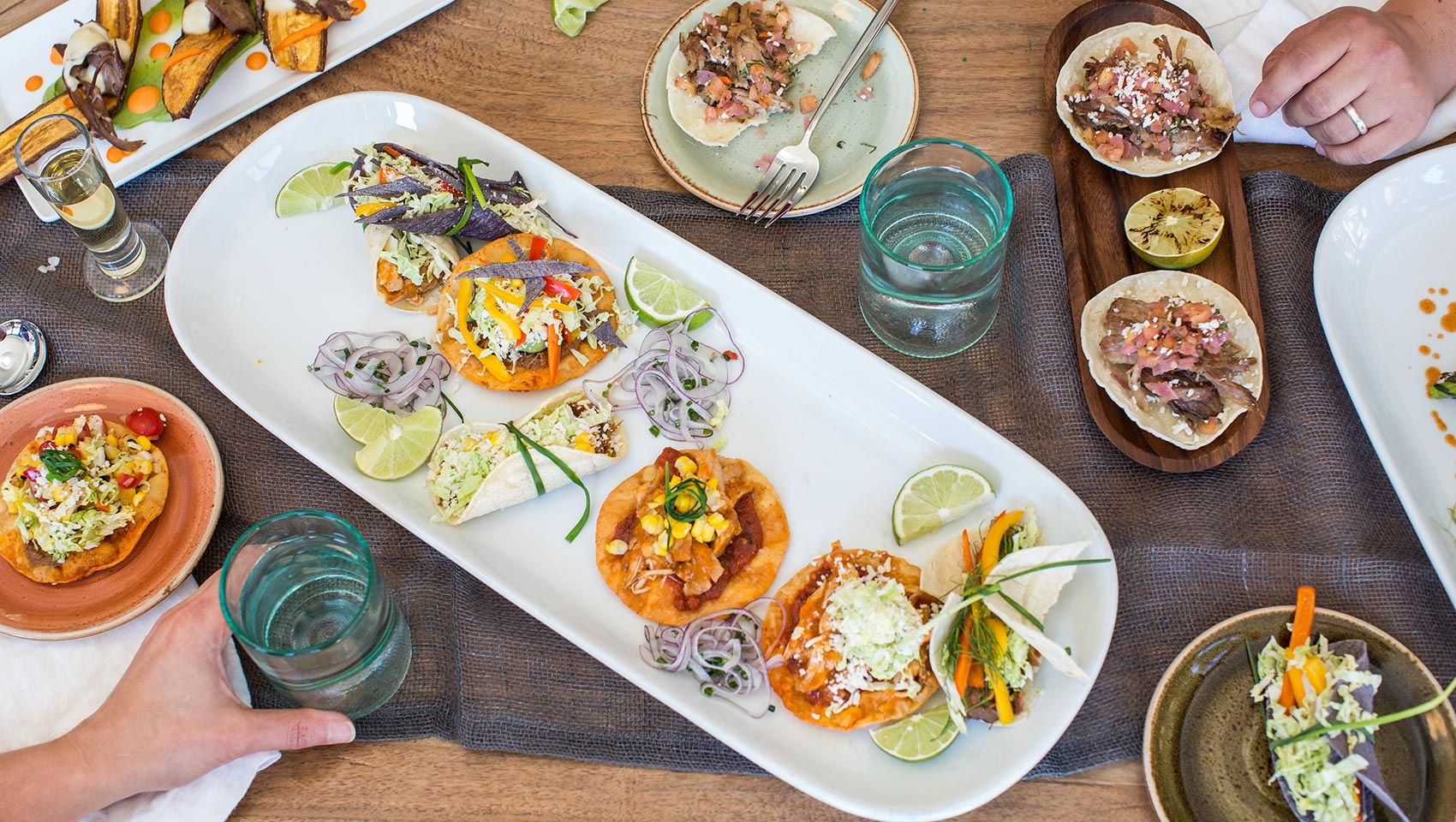 tacos and small plates at coccoloba
